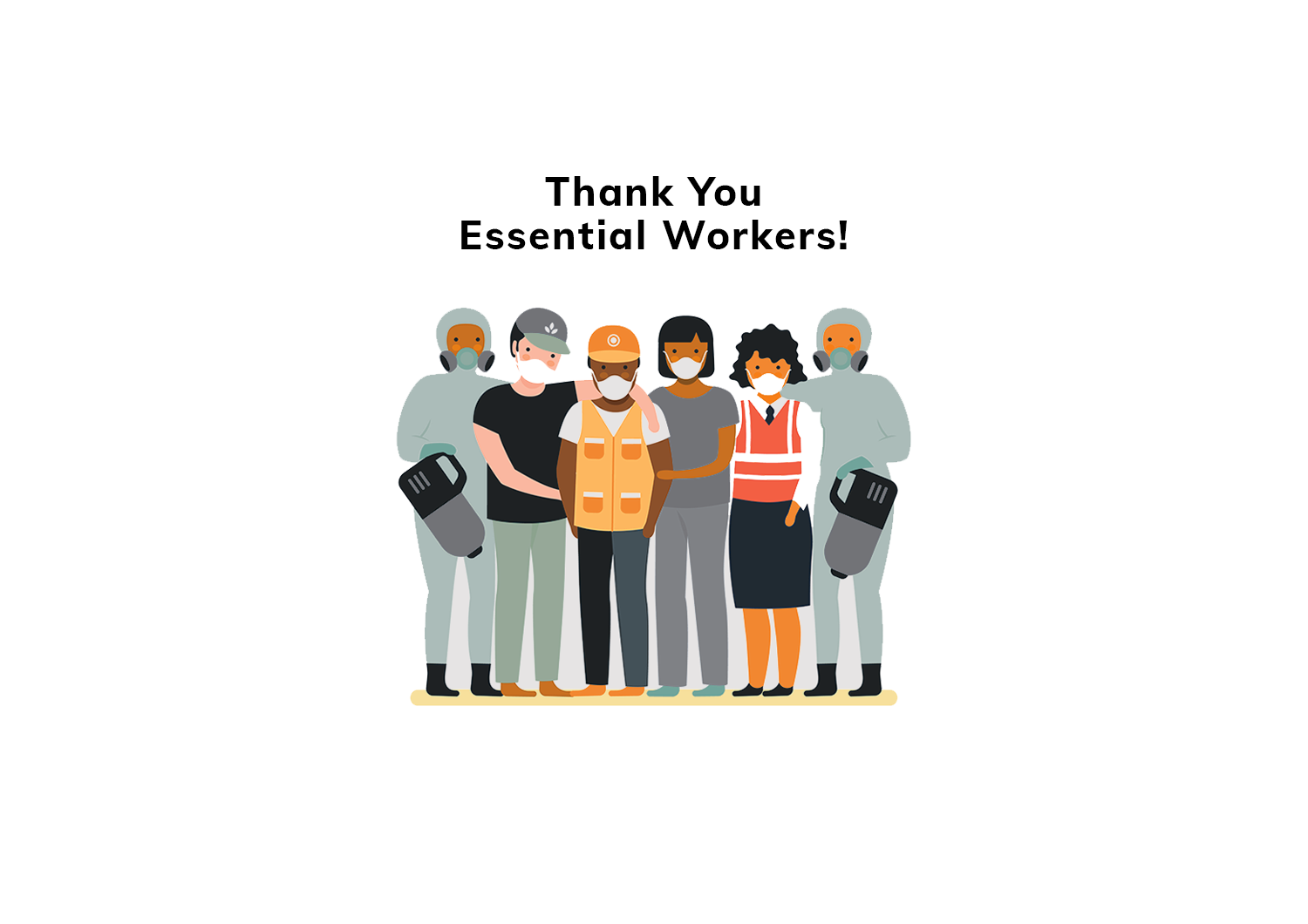 Thank you to the essential frontline workers who keep this country moving forward!