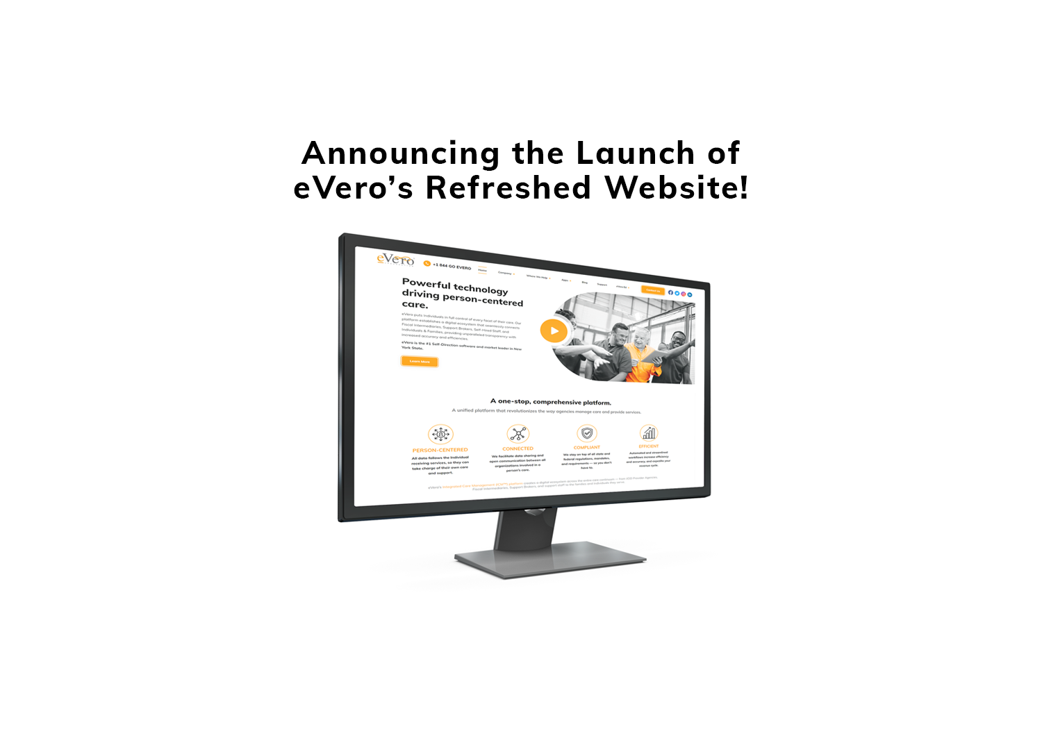 eVero launches new website with enhanced navigation and modern design!